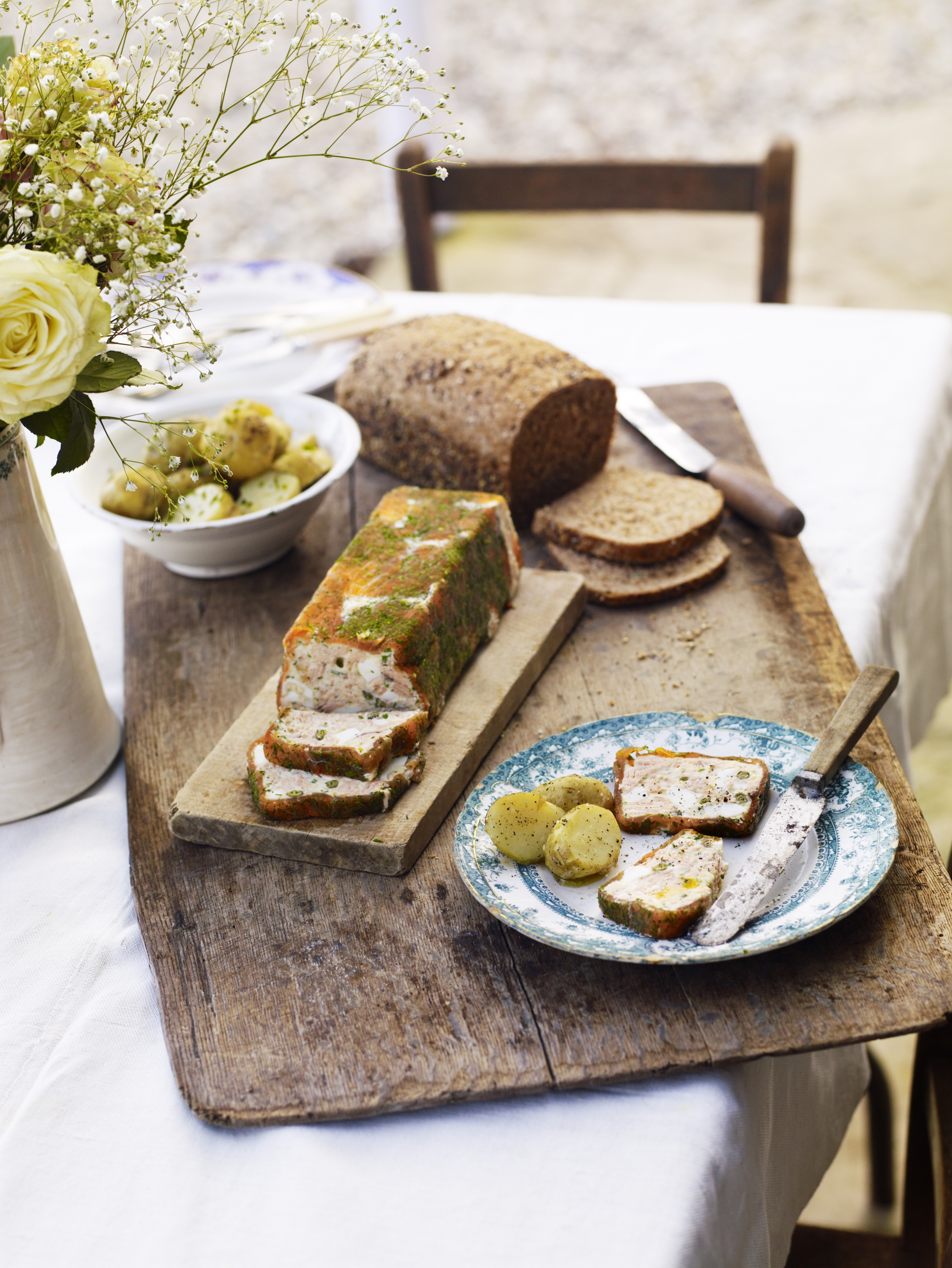 Trout terrine